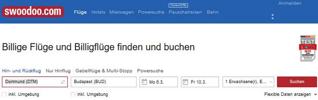 swoodoo Flüge: ❶❶ Stolperfallen bei der Flugsuche mit swoodoo.de